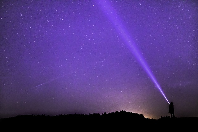 violet sky with stars